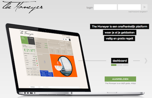 the moneyer landing page